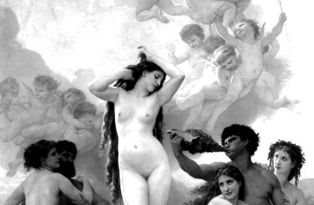 Venus födelse av William Adolphe Bouguereau (1879)