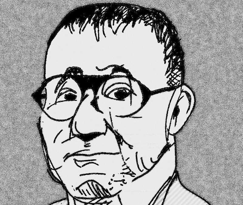Teckning av Bertolt Brecht av Yuma. CC