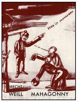 Reklamaffisch för Mahagonny.