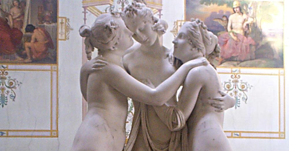 Del av Canovas staty De tre gracerna.