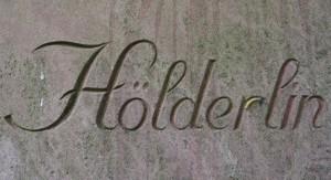 Närbild på Hölderlins monument. Foto: Hampus Östh gustafsson.