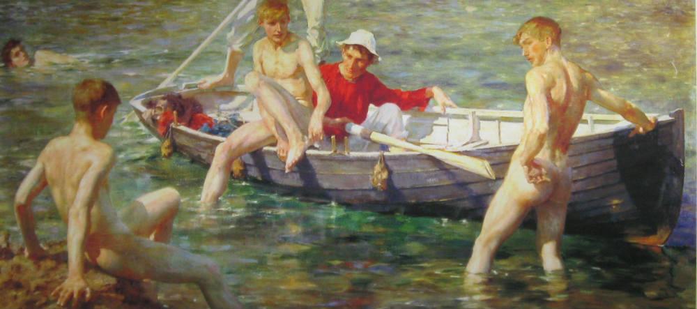 Henry Scotts målning Dop.