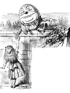 Humpty Dumpty illustrated by John Tenniel.