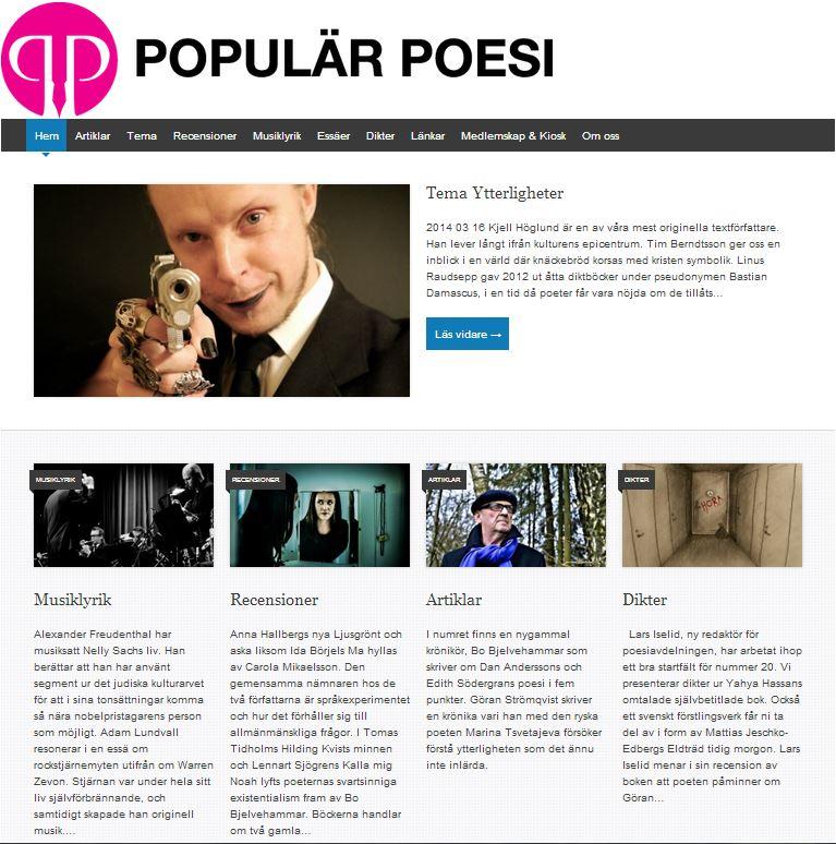 Populär Poesi nummer 20 med tema Ytterligheter lades ut den 16 mars 2014.