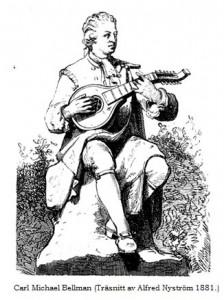 Teckning av Bellman.
