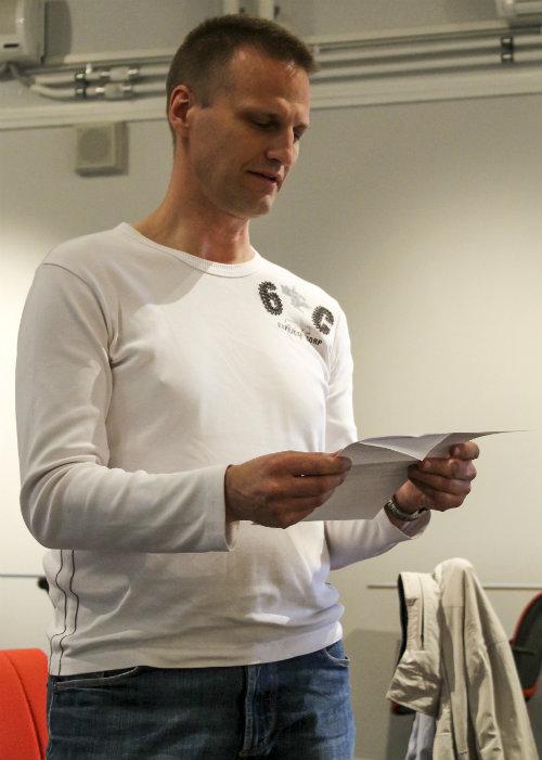 Tor-Björn Fjellner läste några av sina dikter.