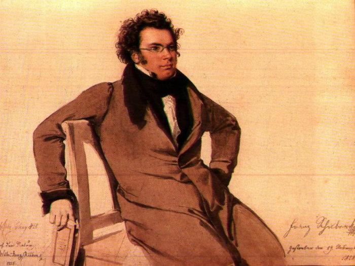 Franz Schubert målad av Wilhelm August Rieder.