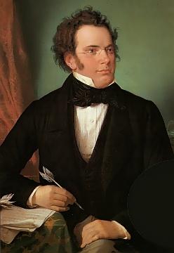 Franz Schubert målad av Wilhelm August Rieder 1875.