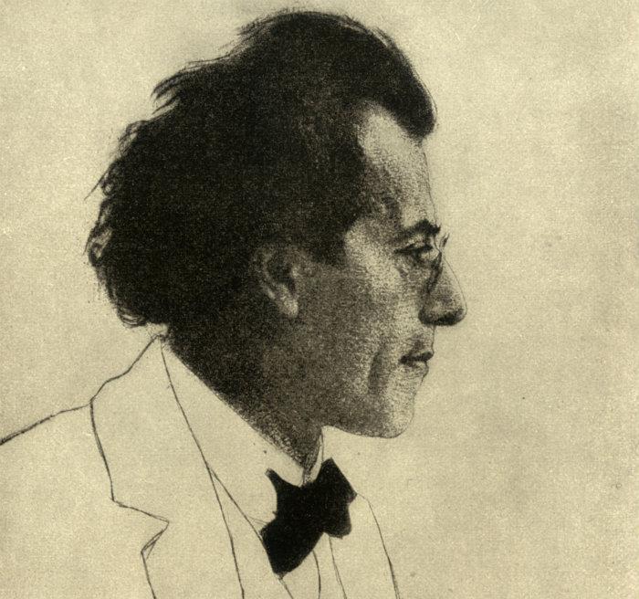 Gustav Mahler. Illustration: Emil Orlik.
