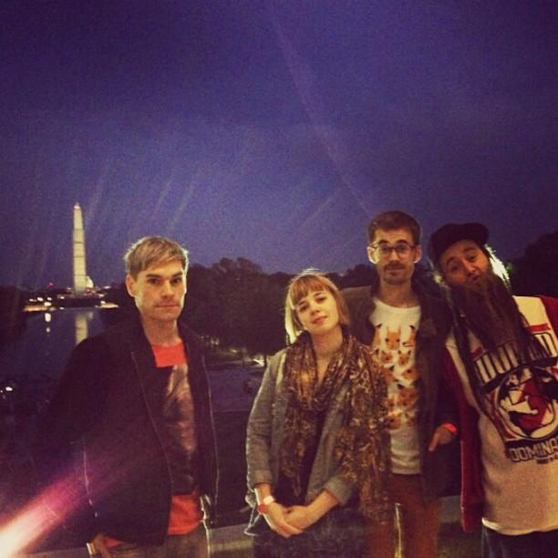 Niklas Mesaros, Laura Wihlborg, Henrik Karlsson och Henry Bowers i Washington DC.