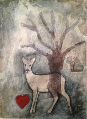 Om trädgård illustrerad av Maria Appell