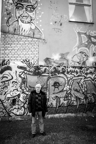 Jackie Hayden utanför Kraftverket. Foto: Peter Nyberg
