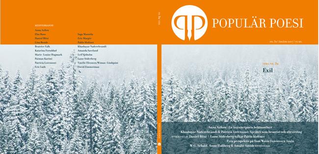 Populär Poesi kommer ut i fyra tryck 2017