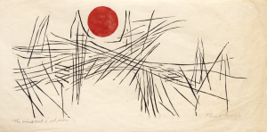 Ted Faiers (1908-1985). The Wind and a Red Sun, 1961, woodcut. Courtesey the Estate of Ted Faiers)