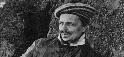 August Strindberg. Självporträtt.