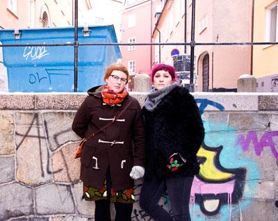 Charlotte Qvandt & Anna-Jörgensdotter. Foto: Karl Skagerberg.