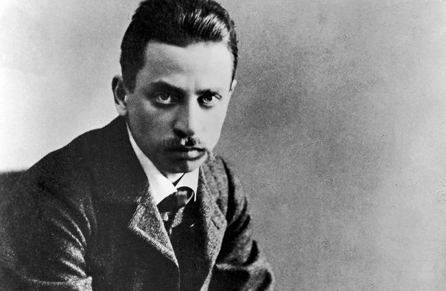Erich Maria Rilke 1906. Fotograf okänd.