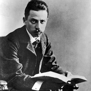 Rainer Maria Rilke 1906. Fotograf okänd.