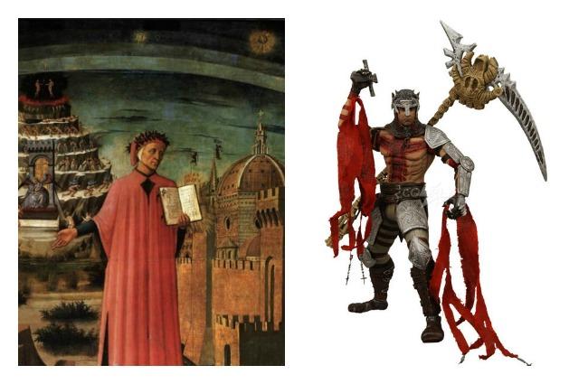 Den traditionella och den nya Dante.