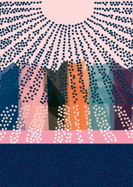Färgerna inuti. Varma gator. Illustration: Ellen Portin.