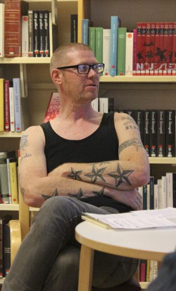 Bengt Cidden Andersson var den som inspirerade Jonas Bengt Svensson att börja skriva dikter. Foto: Peter Nyberg.