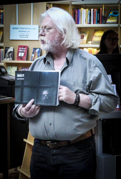 Ingemar E L Göransson läste ur sin Images. Foto: Peter Nyberg.