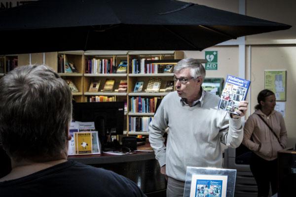 Leif Risberg berättade om projektet Författare i Sommenbygd.