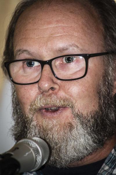 Colm ÒCiarnian läste om döden. Foto: Åsa Nyberg.