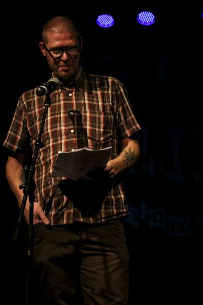 Jonas Bengt Svensson läste två dikter. Foto: Peter Nyberg.