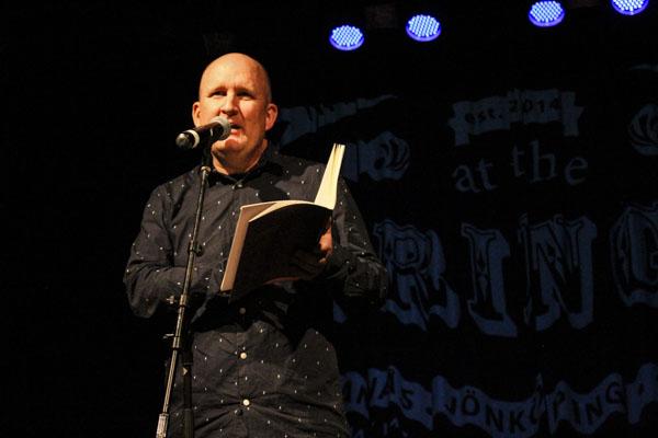 Briljanta svenska poeten Christer Boberg läste dikt ur sin Terpsitone. Foto: Peter Nyberg.