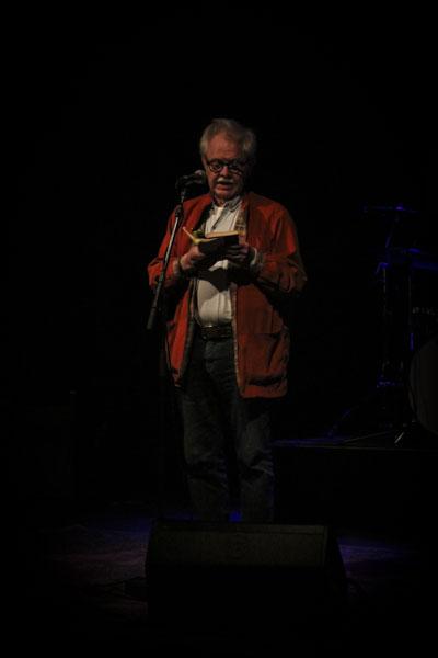Gunnar Harding läste dikter från sin nya bok Från vinter till vinter. Foto: Peter Nyberg.