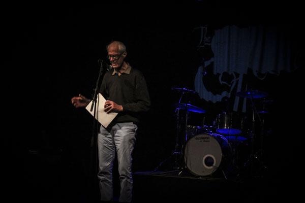 Göran Strömqvist läste ur sina böcker. Foto: Peter Nyberg.
