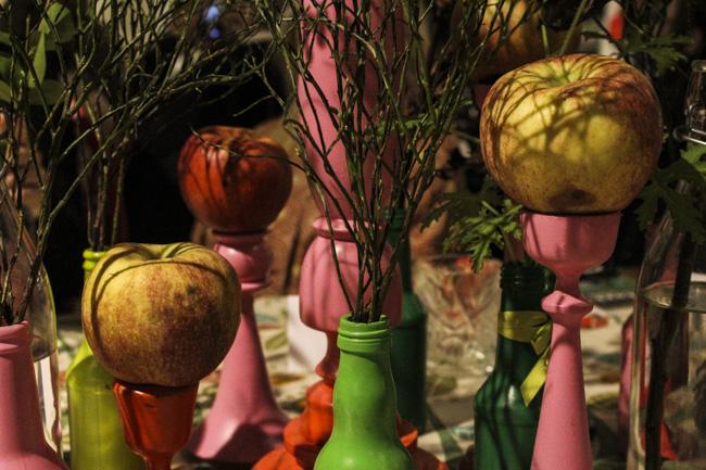 Matmekka hade dekorerat höstligt. Foto: Peter Nyberg.